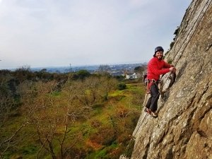 Lead Climbing on Rock